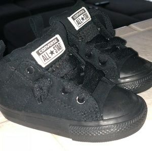 Toddler/infant black converse size 5 high top